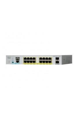 Switch Cisco Catalyst 2960L 16Ptos GE y 2SFP Lan Lite PoE+