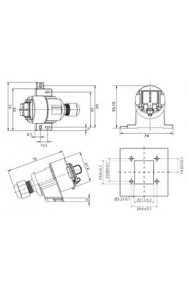 Carcasa superficie exterior IP67 DATWYLER p/1xRJ45 Keystone
