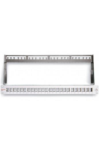 "Panel Vacío 19"" DATWYLER p/24 Conectores RJ45 FTP Hembra Neg"
