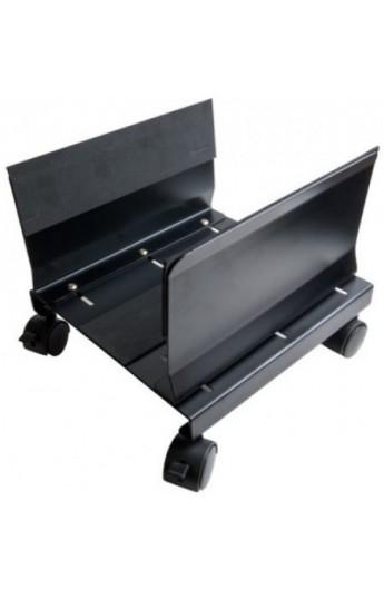 Soporte CPU ATX Metalico con ruedas color negro