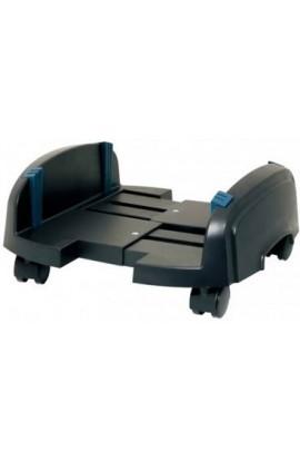 Soporte CPU ATX plástico con ruedas color negro