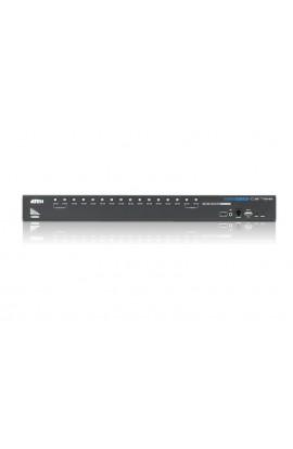 Conmutador KVM Aten 16 PCs a 1Psto trabajo USB+HDMI+audio