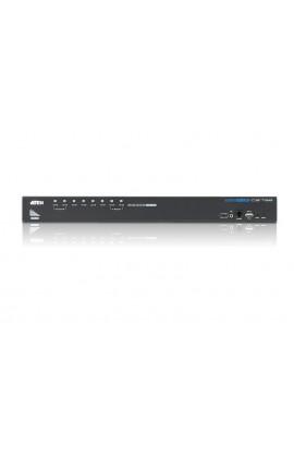 Conmutador KVM Aten 8 PCs a 1Psto trabajo USB+HDMI+audio