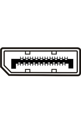 Cable DisplayPort macho / macho 2,0mts color negro
