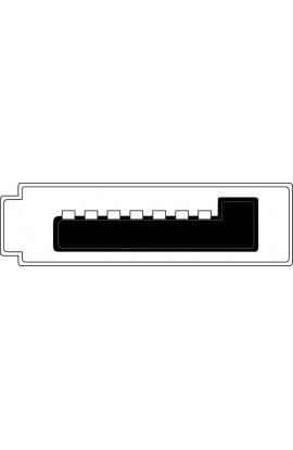 Cable SATAIII 7Pines Macho / Macho con cierre 50cms