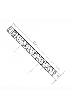 "Regleta Rack 19"" 8xSchuko formato c/interruptor Silver"