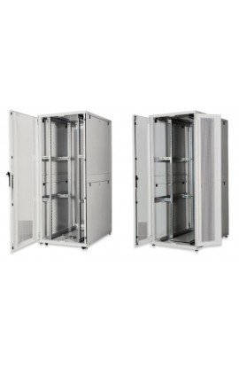 "Rack Server 19"" 42U 800x1000mm IP20 Ptas. perforadas gris"