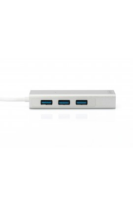 Tarjeta Red USB3.0 1Pto Gigabit+HUB USB 3Ptos 0,15mts