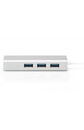 Tarjeta Red USB3.1 C 1Pto Gigabit+HUB USB 3Ptos 0,15mts