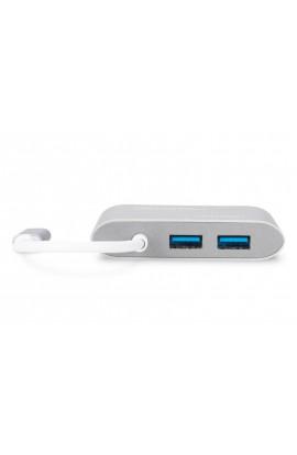 Convertidor Multip USB3.1 tipo C a HDMI+1RJ45 + 2 USB3.0 H