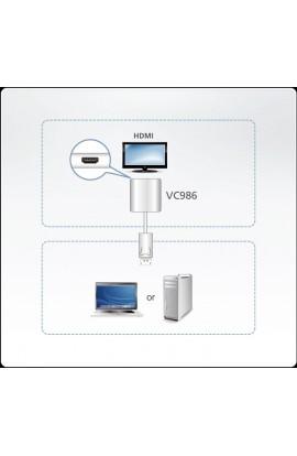 Convertidor de DisplayPort a HDMI 4K Aten