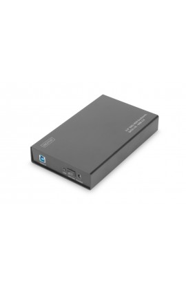 "Caja externa USB3.0 para HDD SATA 3,5"" Aluminio Neg"